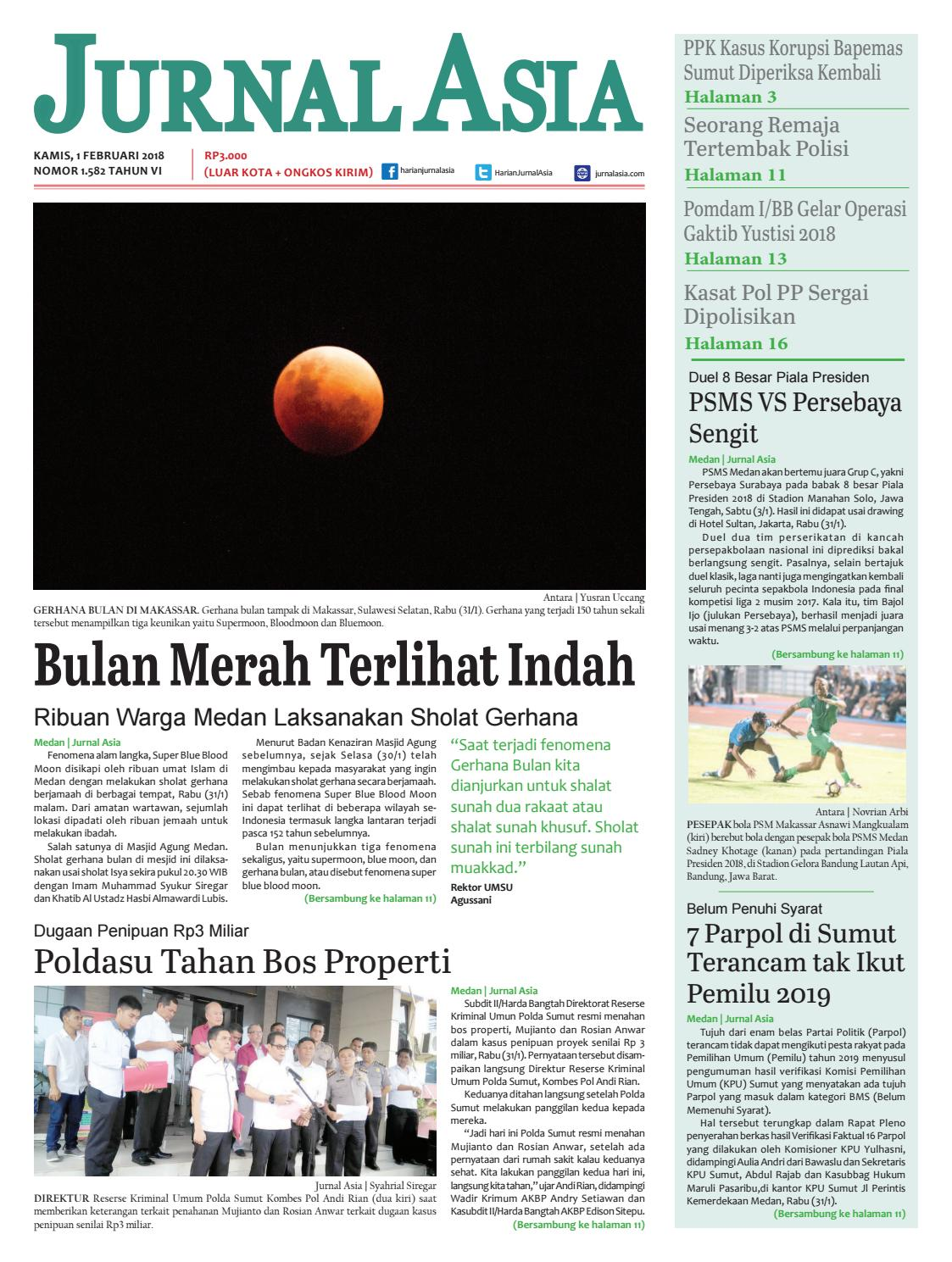 Harian Jurnal Asia Edisi Kamis 01 Februari 2018 By Ttass Bayii Serba Guna Medan Issuu