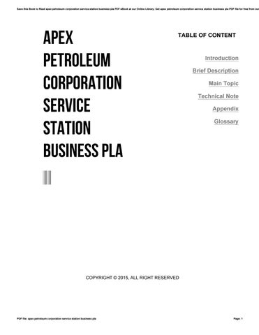apex petroleum corporation service station business pla by xww54 issuu