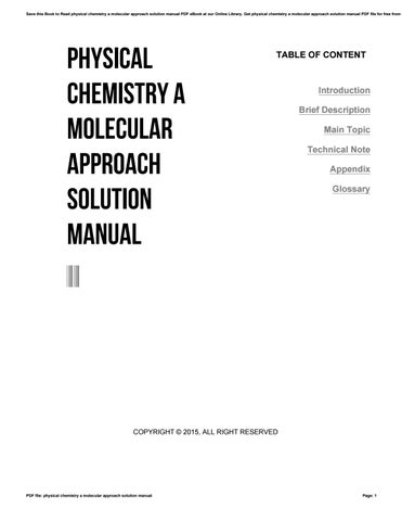 Physical chemistry a molecular approach solution manual by 4tb683 save this book to read physical chemistry a molecular approach solution manual pdf ebook at our online library get physical chemistry a molecular approach fandeluxe Choice Image