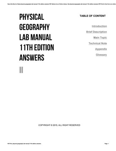 physical geography lab manual 11th edition answers by ppetw27 issuu rh issuu com Physical Geography Map Physical Geography Map United States