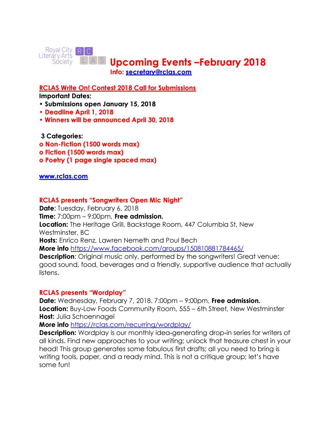 February 2018 RCLAS Ezine issue 51 by RCLAS - issuu