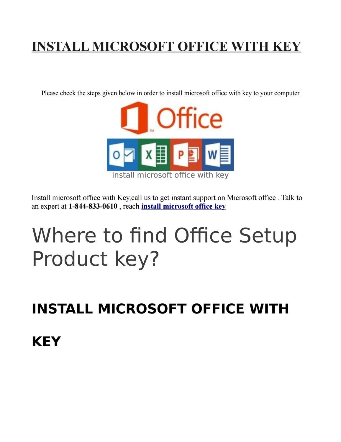 Install microsoft office with key by sarika singh - issuu