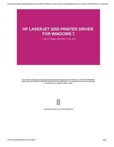 hp laserjet 3050 printer driver