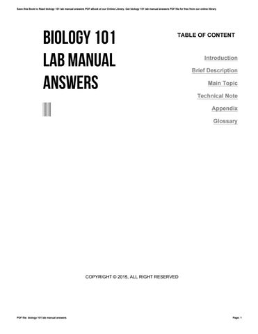 biology 101 lab manual answers by v424 issuu rh issuu com biology lab manual answers mader biology lab manual answer key hayden mcneil