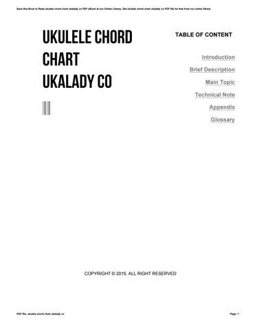 Ukulele Chord Chart Ukalady Co By 4tb99 Issuu