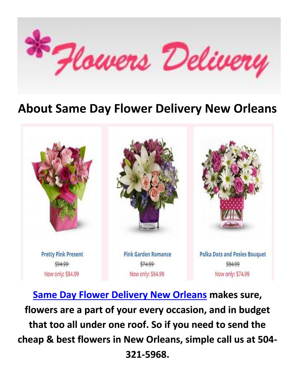 Affordable Flower Delivery In New Orleans La 504 321 5968 By Same