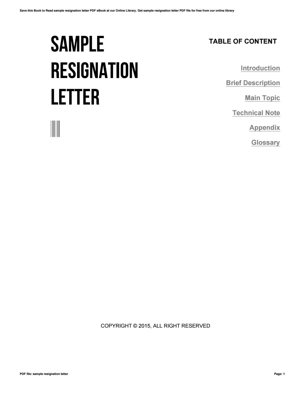 Letter Of Resignation Pdf from image.isu.pub