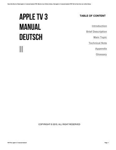 apple tv 3 manual deutsch by themail54 issuu rh issuu com Apple TV Remote Apple TV Remote