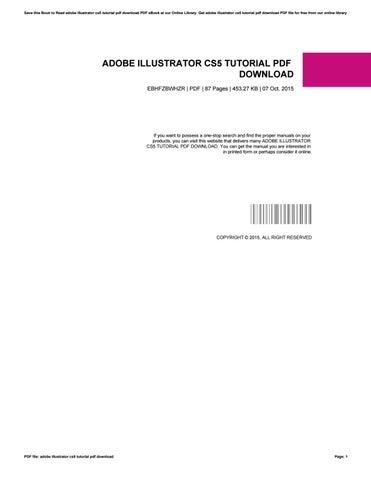 Adobe Illustrator Cs5 Book Pdf