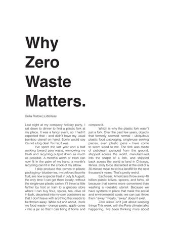 Page 22 of Why Zero Waste Matters