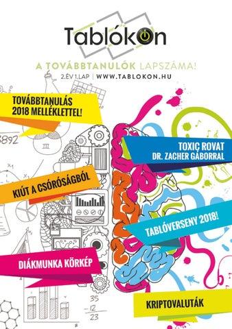 """Cover of """"TablókOn - A Továbbtanulók Lapszáma - 2018. Február"""""""