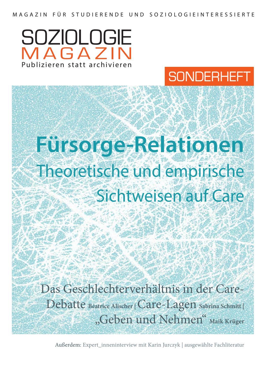 Fürsorge-Relationen. Theoretische und empirische Sichtweisen auf ...