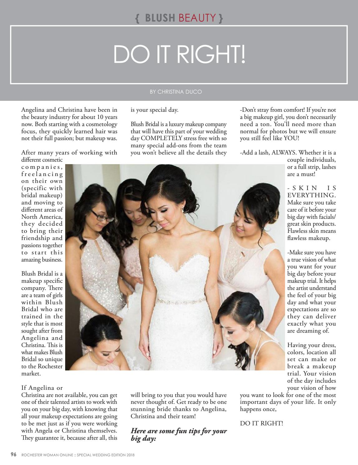 f1001d6981b1 2018 Special Bridal Edition by Rochester Woman Online - issuu