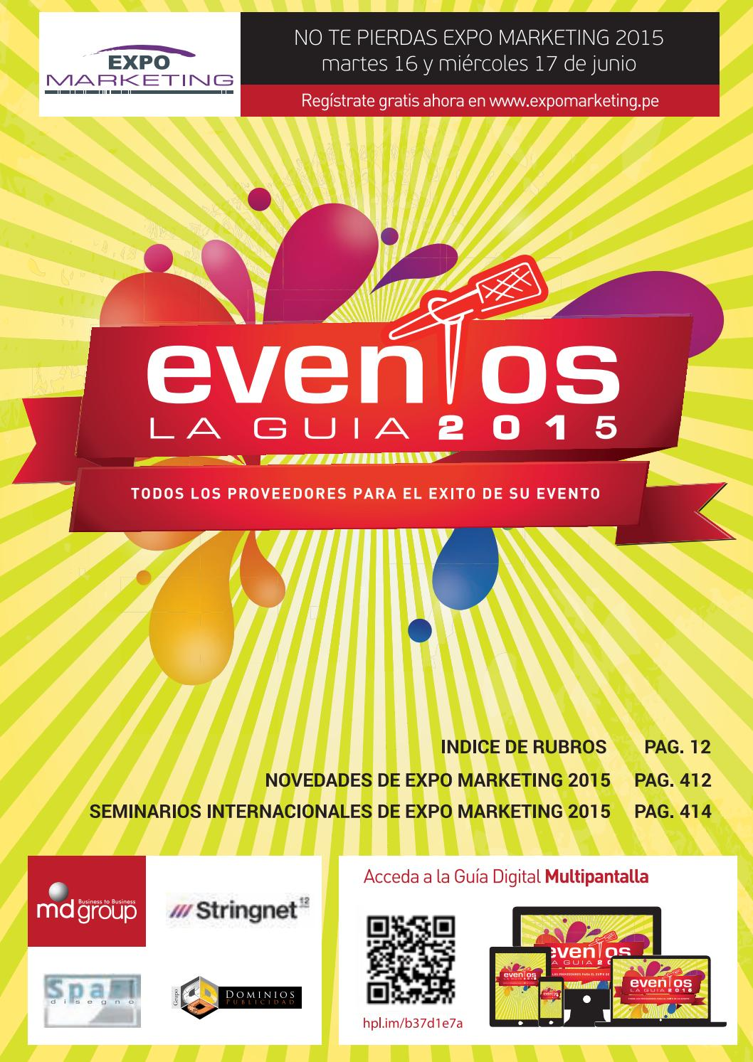 Guía de eventos 2015 by MD Group - issuu