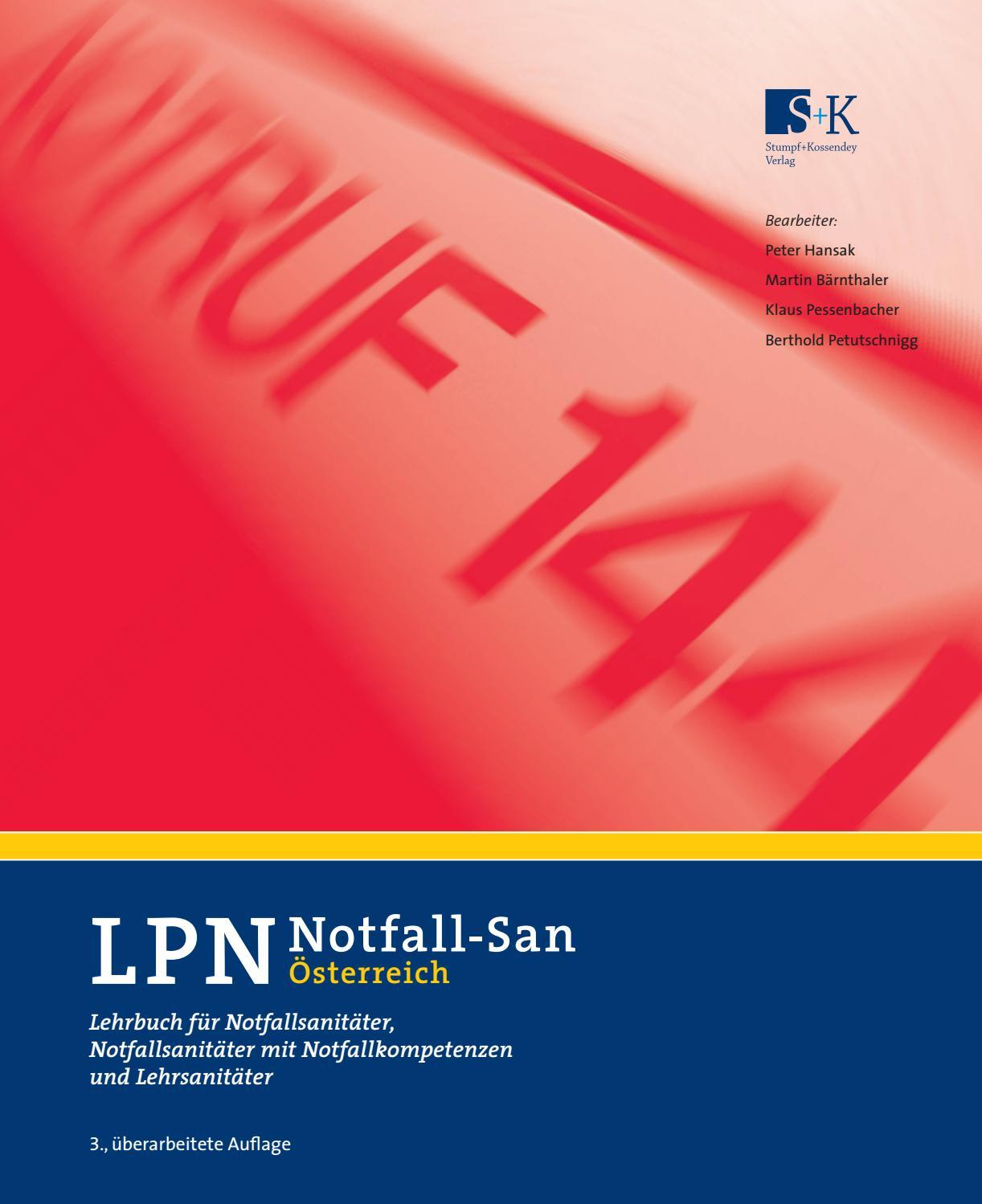 LPN-Notfall-San Österreich by Verlag Stumpf & Kossendey - issuu