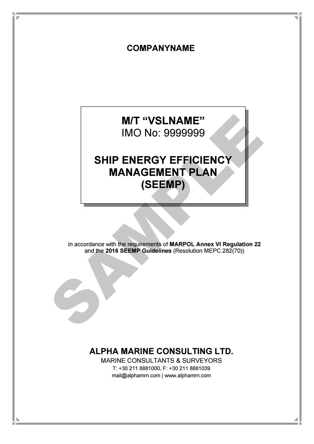 ship energy efficiency management plans  seemp  by alpha