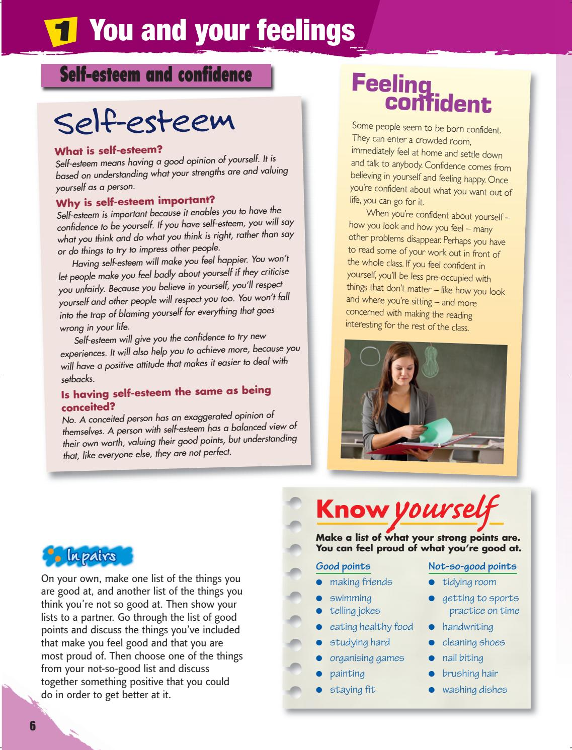 good points on self confidence