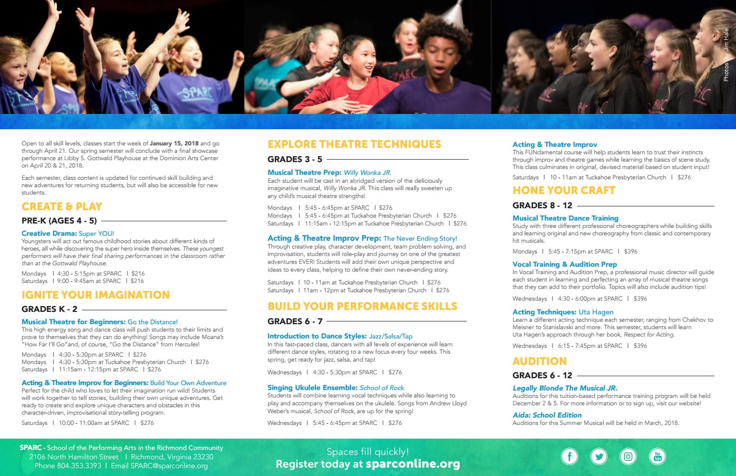 SPARC Spring 2018 Classes by sparcrichmond - issuu