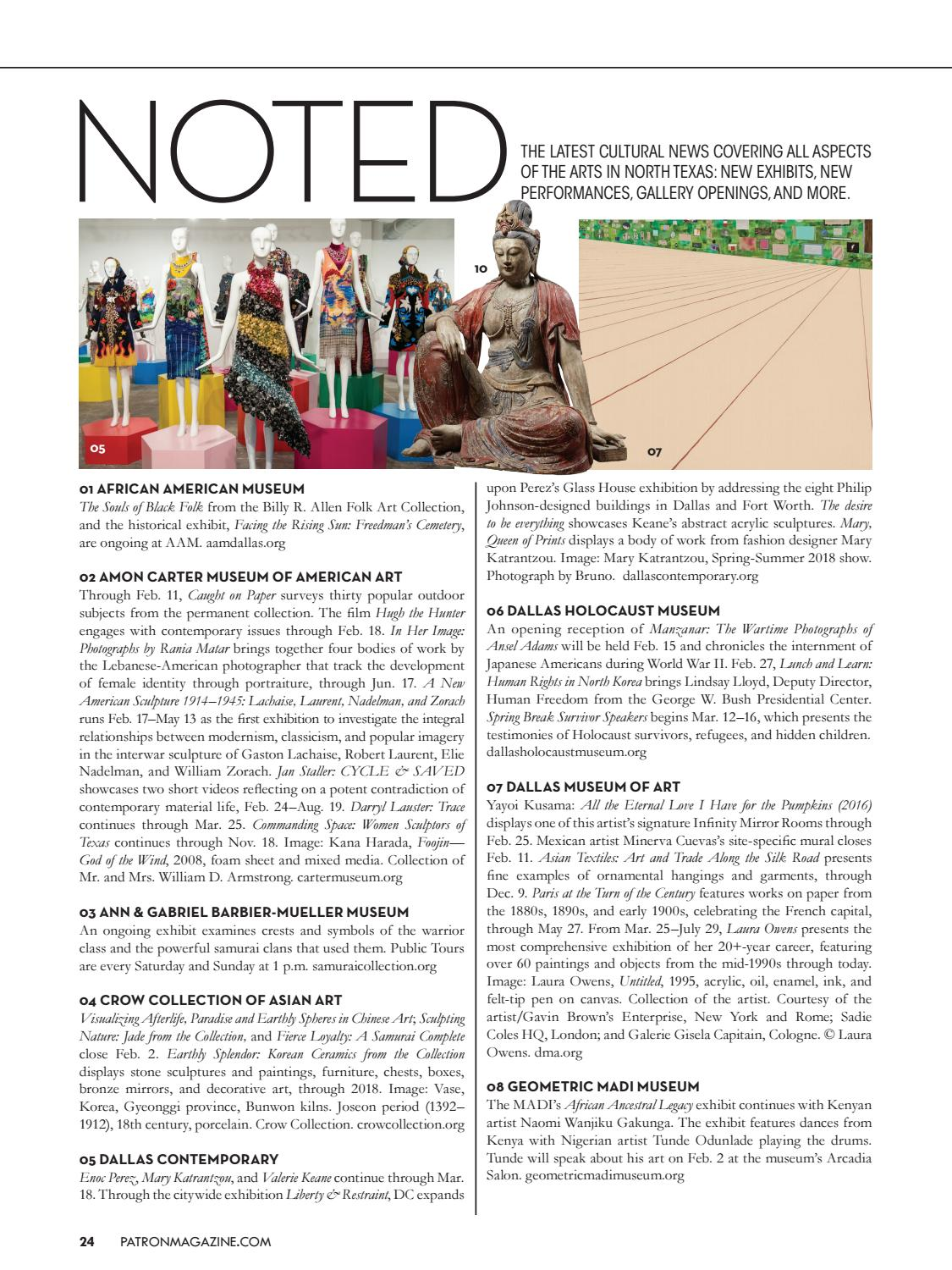 Patron's February/March Issue by Patron Magazine - issuu
