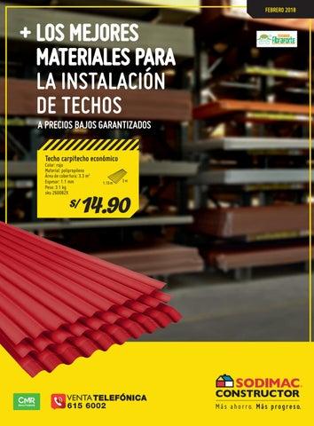 Sodimac Constructor Especial Techos By Sodimac Perú Issuu