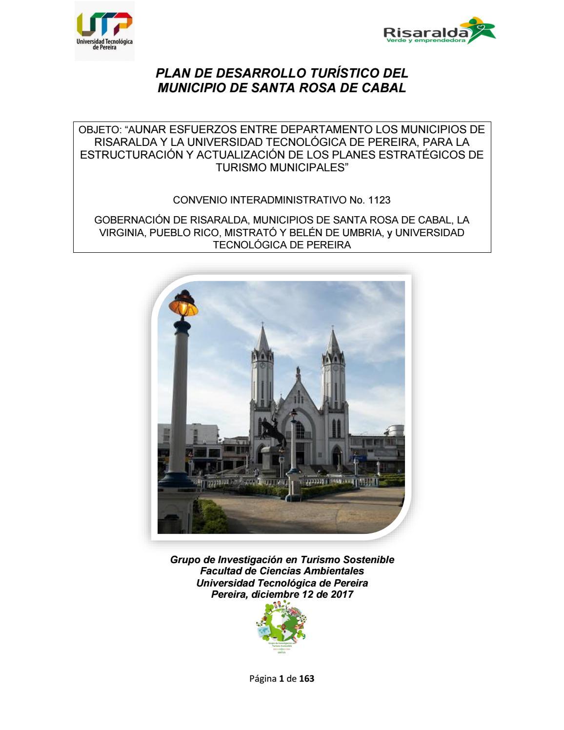 Plan De Desarrollo Tur Stico Santa Rosa De Cabal 2017 By  # Muebles Para Piqueteadero
