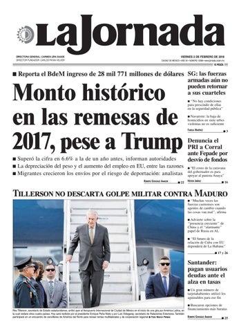 3223e01d7c VIERNES 2 DE FEBRERO DE 2018 CIUDAD DE MÉXICO • AÑO 34 • NÚMERO 12038 • www. jornada.unam.mx