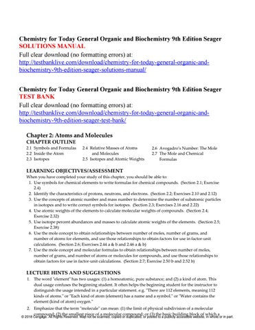 chemistry for today general organic and biochemistry 9th edition rh issuu com Textbook Solution Manuals essential biochemistry solutions manual