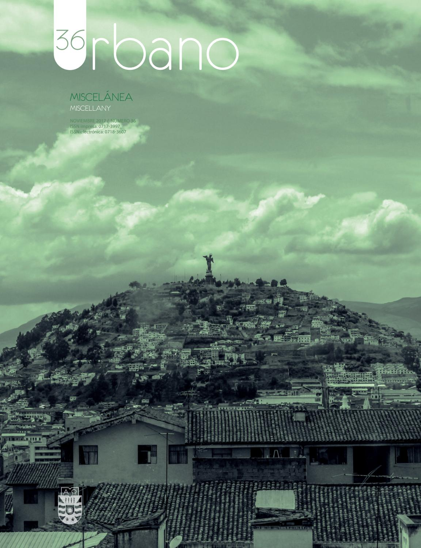 Revista Urbano V 20 N 36 Noviembre 2017 By Revista Urbano