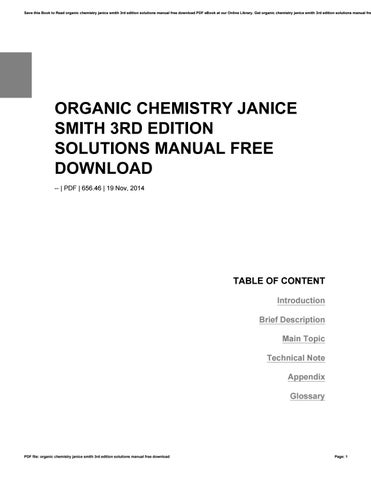 General chemistry petrucci 10th edition solutions manual download by organic chemistry janice smith 3rd edition solutions manual free download fandeluxe Images