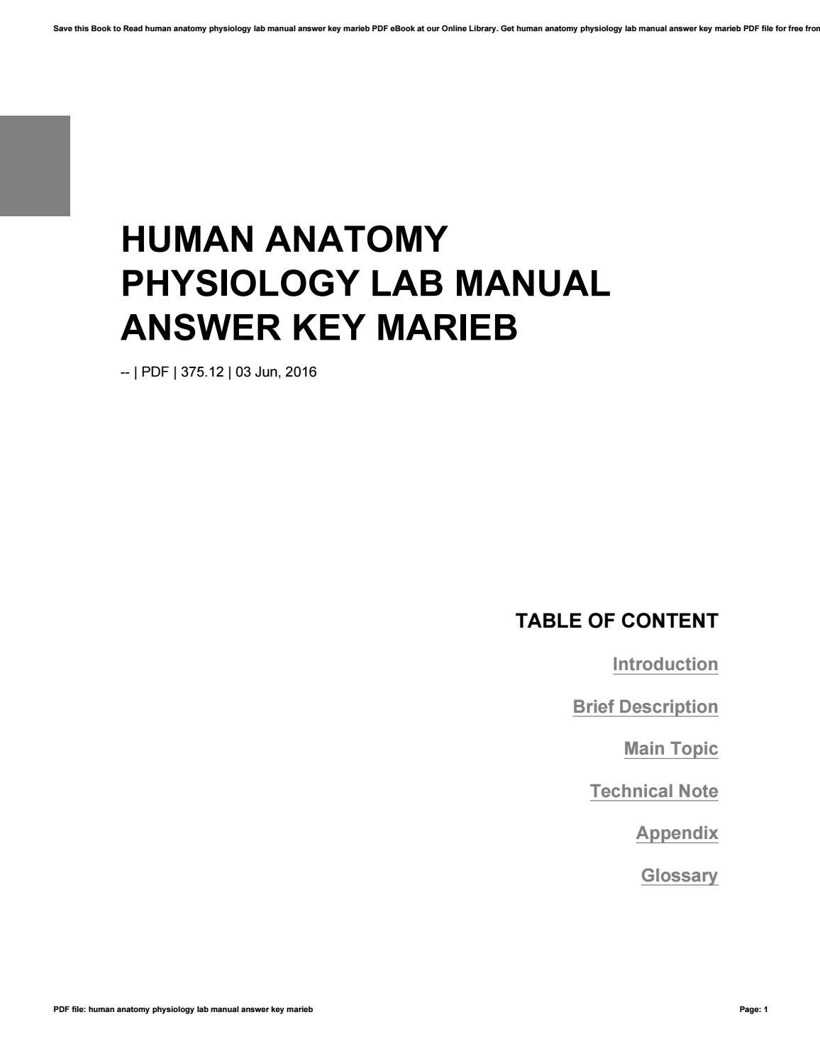 Human anatomy physiology lab manual answer key marieb by hezll37 - issuu