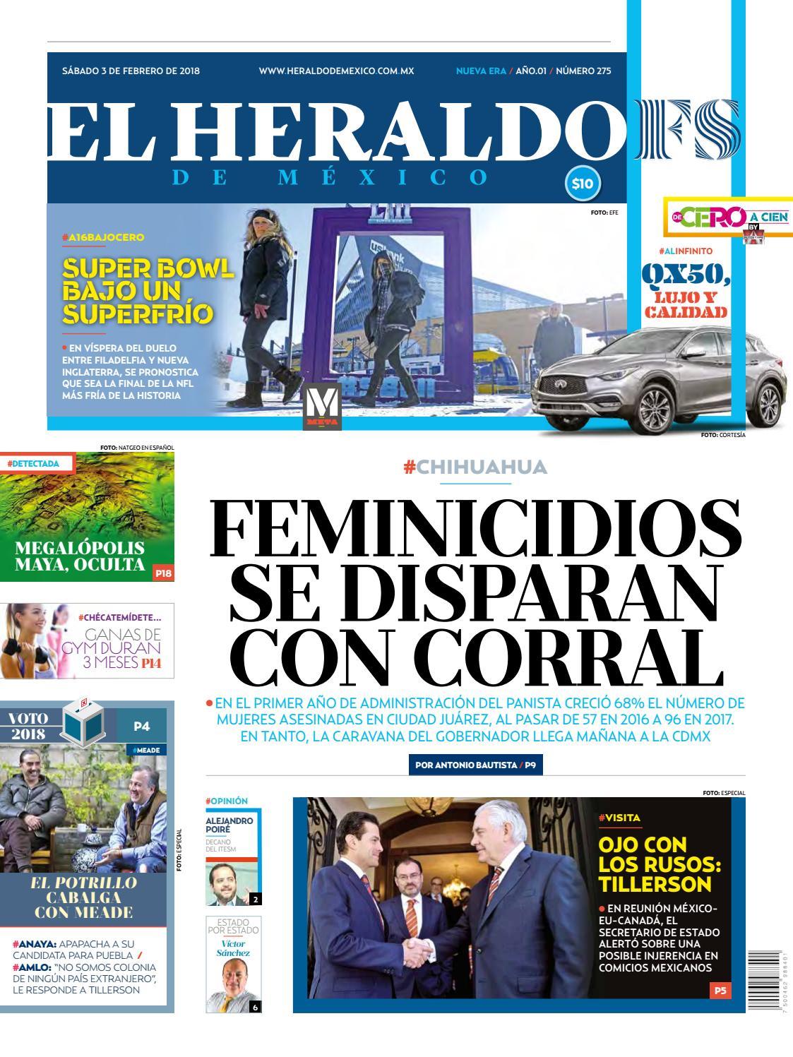 5e57f46861 El heraldo 03022018 by El Heraldo de México - issuu