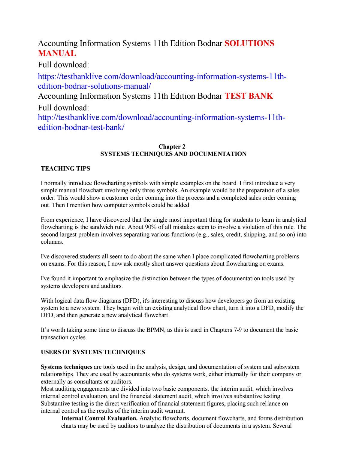 Accounting Information Systems 11th Edition Bodnar Solutions Manual Logic Flow Diagram Symbols By Garenni Issuu