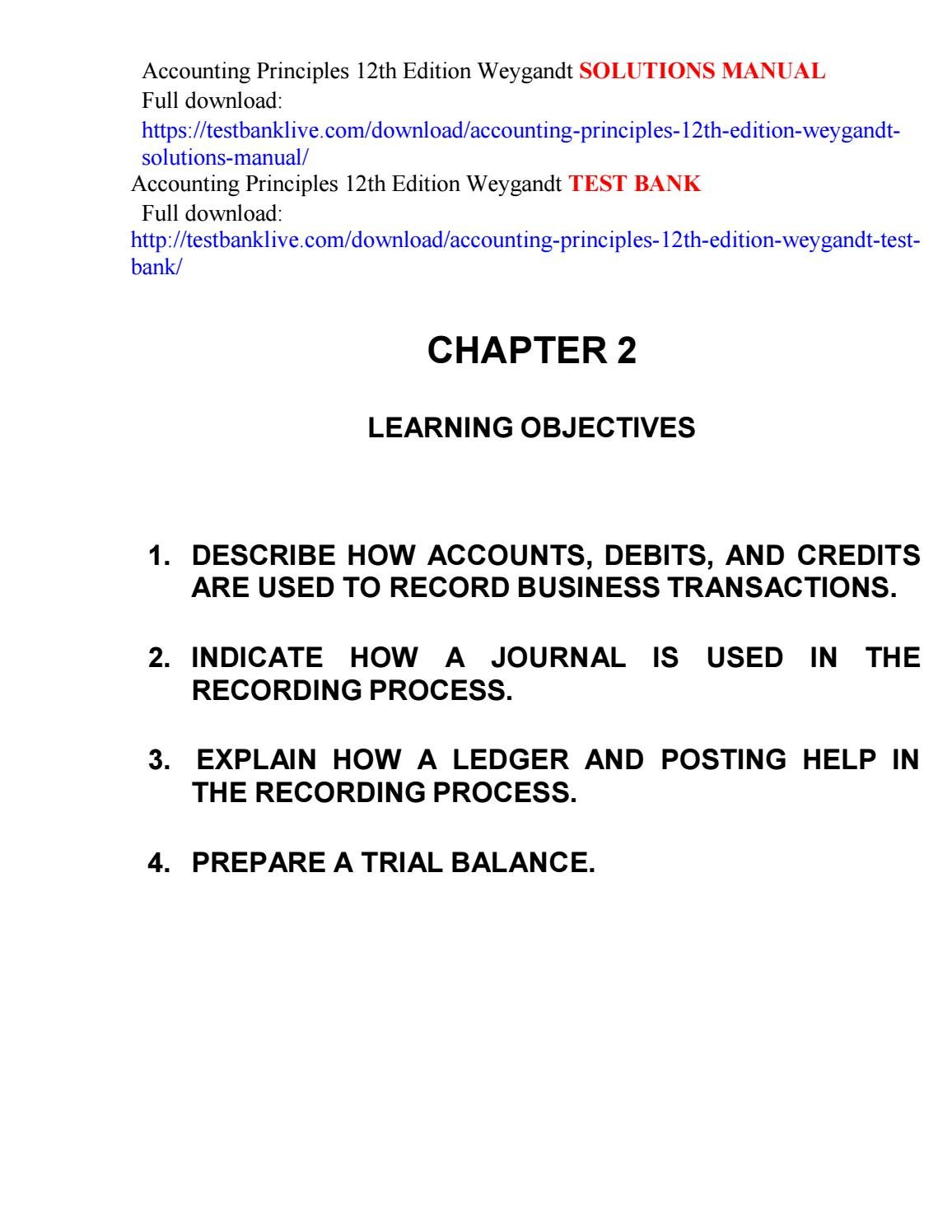 Accounting principles 12th edition weygandt solutions manual by garenni -  issuu