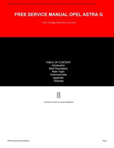 free service manual opel astra g by furusato468 issuu
