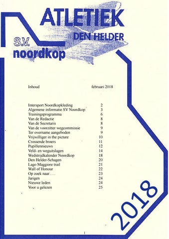 db5c26b84be Clubblad februari 2018 by clubblad sv noordkop - issuu