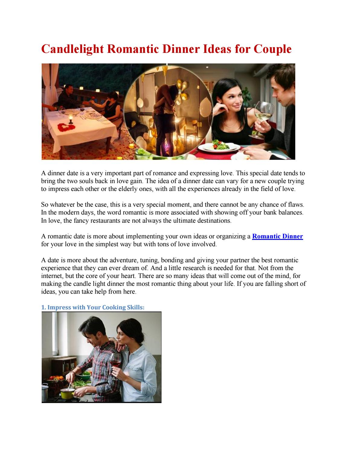 Candlelight Romantic Dinner Ideas for Couple by togetherv - issuu