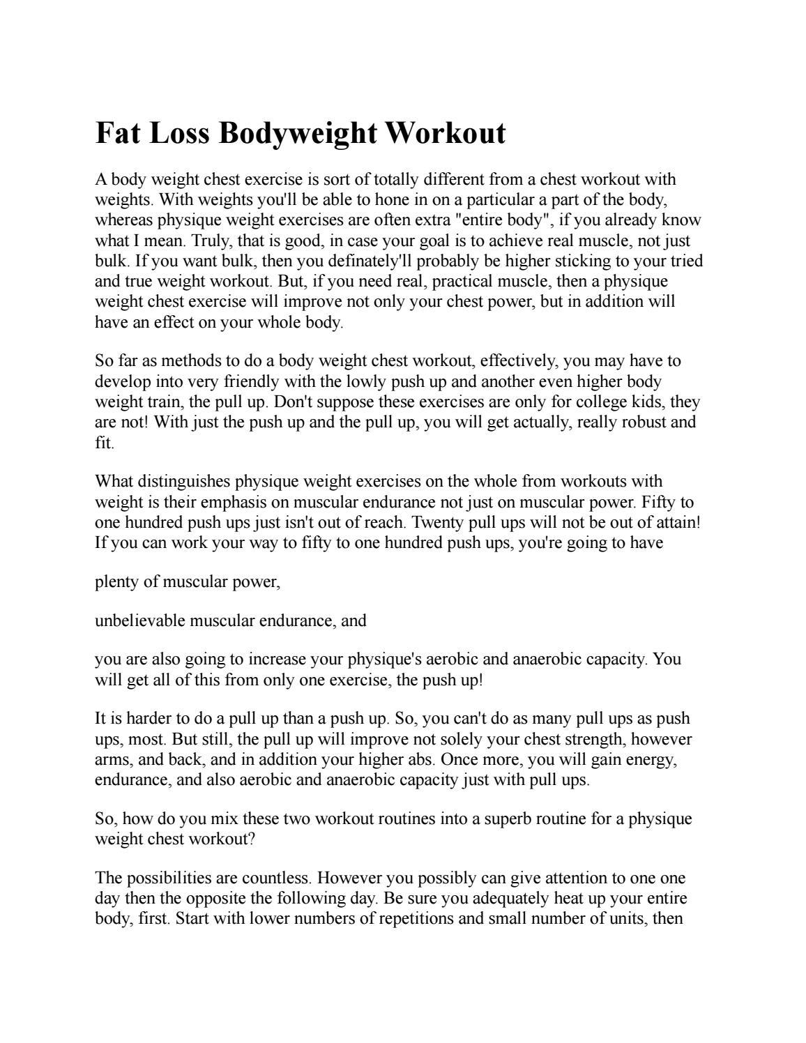 Bodyweight Chest Workout by BodyweightChest - issuu