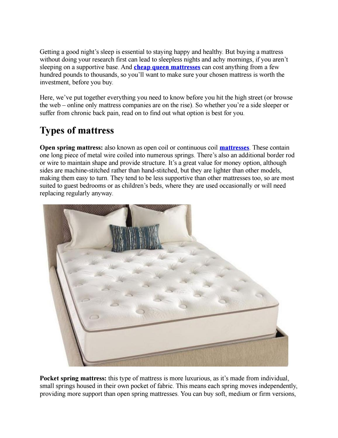 Mattress Ing Guide How To Choose A