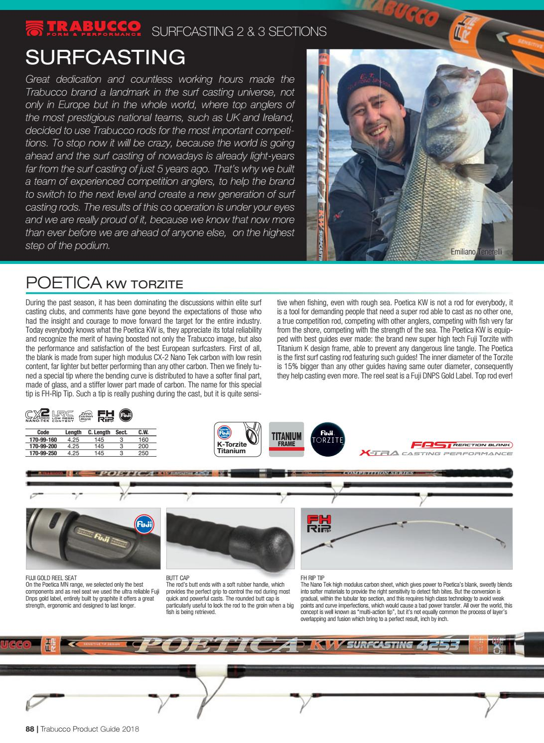 Trabucco Fishing Catalog 2018 - Fishing tackle by Trabucco