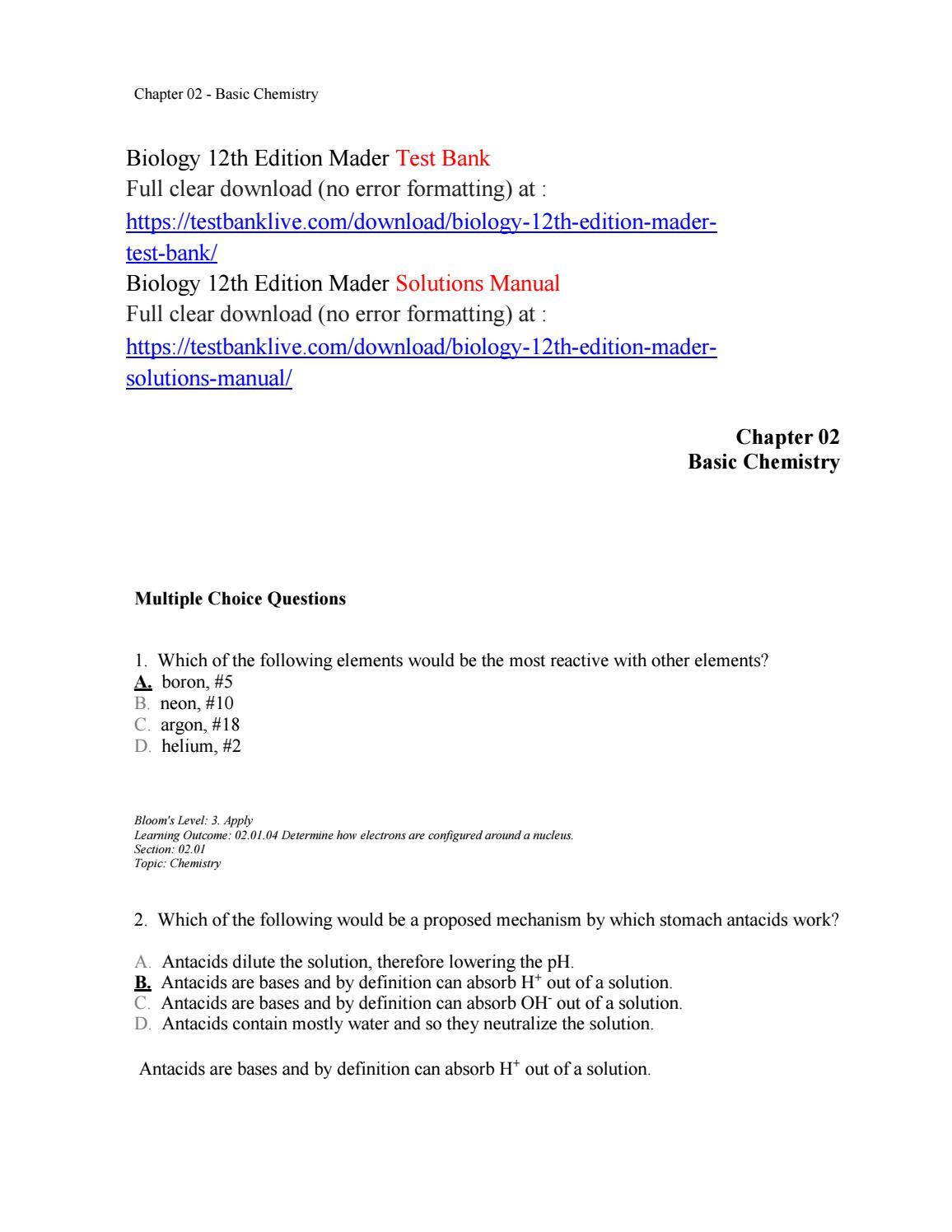 biology 12th edition mader test bank by hazard333 issuu rh issuu com