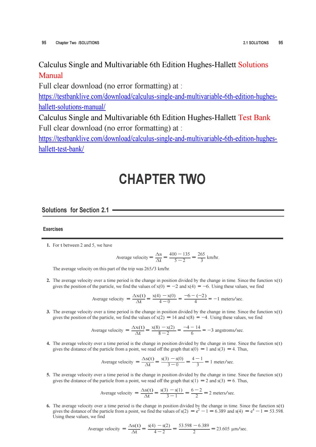 Calculus single and multivariable 6th edition hughes hallett solutions  manual by anna5551 - issuu