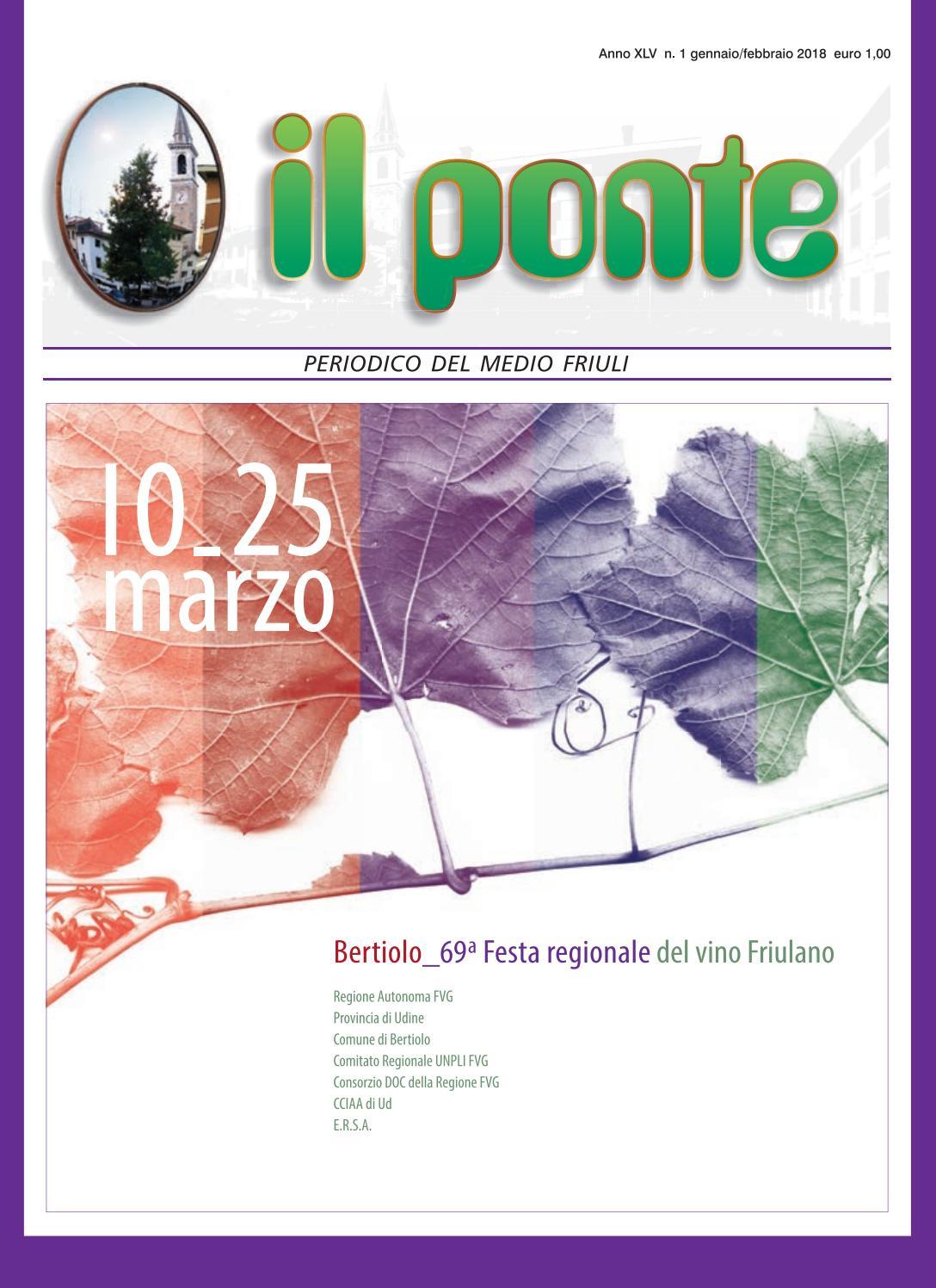 Calendario Vaccinale Fvg.Il Ponte Codroipo N 01 Gennaio Febbraio 2018 By Il Ponte Issuu