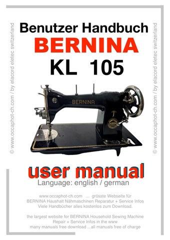 Bernina Sewing Machines by David Mannock - Issuu