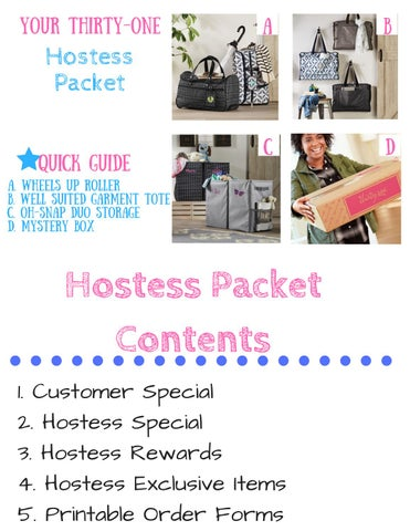 Thirty One March Virtual Hostess Packet By Cybeil Brouillard Issuu