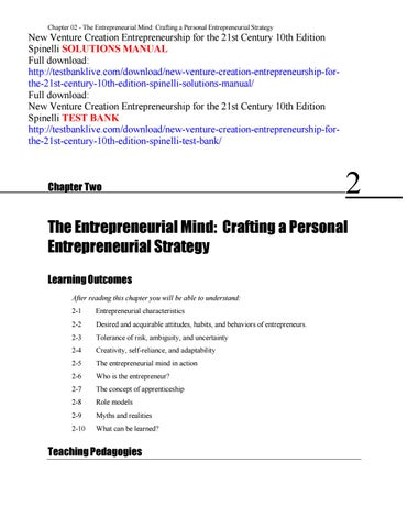 New venture creation entrepreneurship for the 21st century 10th chapter 02 the entrepreneurial mind crafting a personal entrepreneurial strategy new venture creation entrepreneurship fandeluxe Gallery