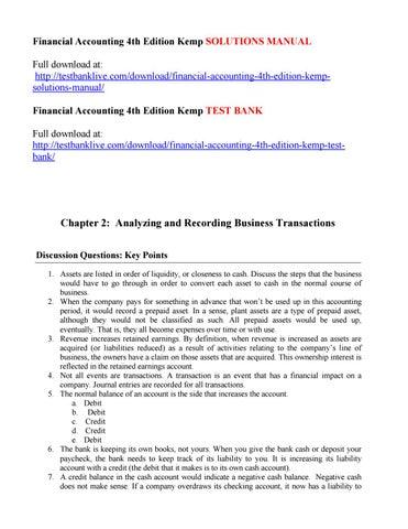 financial accounting 4th edition kemp solutions manual by diablo issuu rh issuu com Ho to Manual Desk Manual