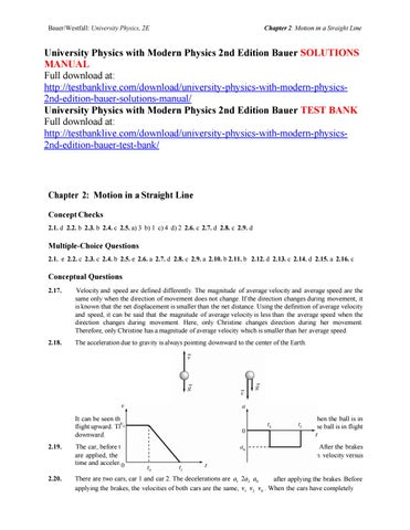 university physics with modern physics 2nd edition bauer solutions rh issuu com university physics bauer westfall solutions manual pdf university physics bauer westfall solutions manual pdf