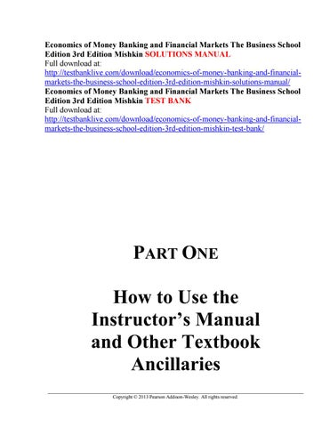 economics of money banking and financial markets the business school rh issuu com Water Safety Instructors Manual PDF Instructor's Manual Layout