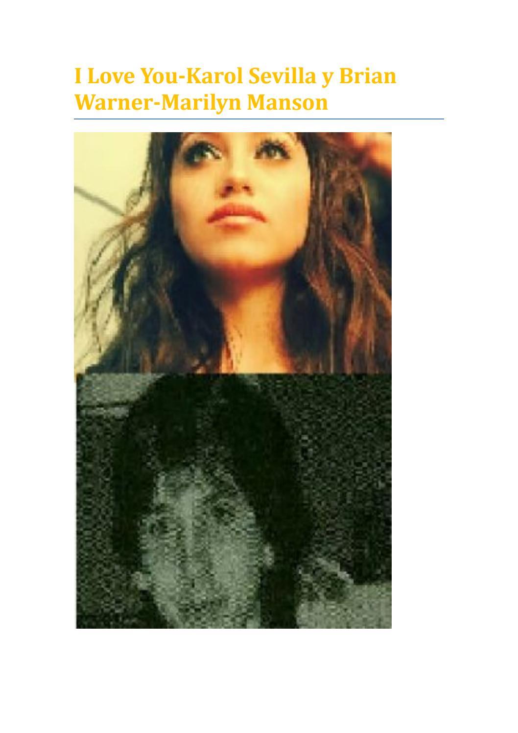 I Love You Karol Sevilla Y Brian Warner Marilyn Manson De Rls