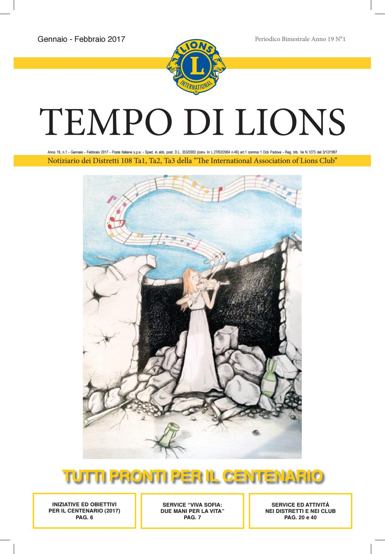 I Rodigini Calendario.Tempo Di Lions Gen Feb 2017 By Distretto Lions 108ta1 Issuu